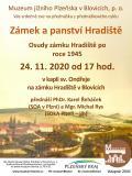 Osudy zámku Hradiště poroce 1945
